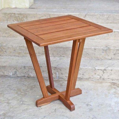 Royal Tahiti Outdoor Furniture: 28-Inch Square Inverted Pyramid Table