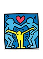 Artopweb Panel Decorativo Haring Untitled 1989 40X40 cm Bordo Nero