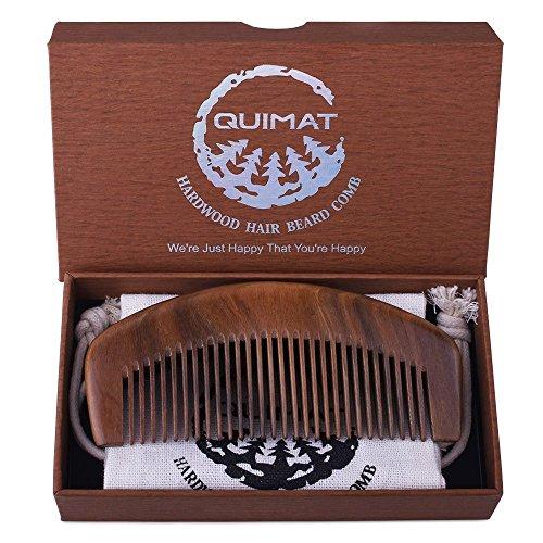 quimat-peigne-bois-main-naturel-sandalwood-vert-antistatiques-et-sans-trou-moyen-dents-barbe-moustac