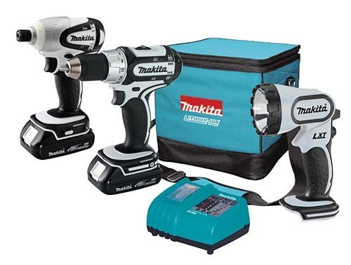 Makita LCT300W 18Volt Compact LithiumIon Cordless 3Piece Combo Kit