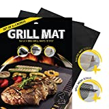 La-Chef Prime BBQ Grill Mat -As Seen on TV - NonStick Grill Mats for-Gas,Charcoal,Electric Grills -Set Of 4 - Lifetime Guarantee