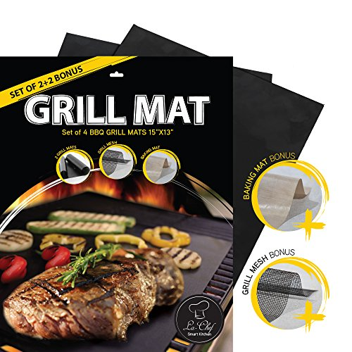 la-chef-grill-mat-as-seen-on-tv-bbq-mats-for-gascharcoalelectric-grills-set-of-4-reusable-keep-grill
