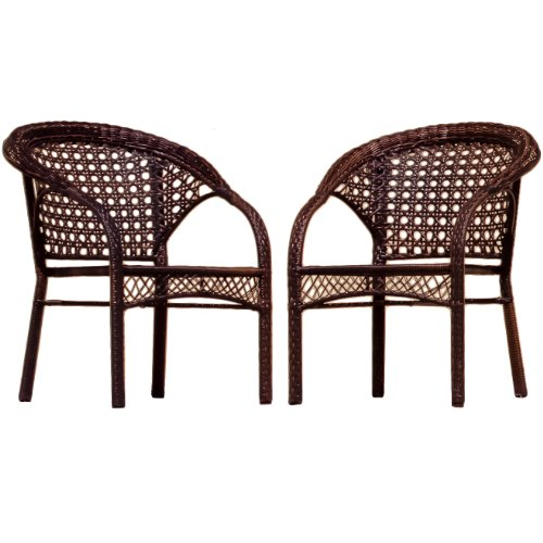 BEST Wicker Club Chair, 2-Pack