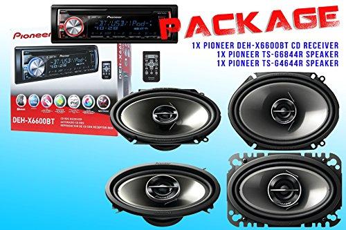 Package ! Pioneer Deh-X6600Bt Cd-Receiver + Pioneer Ts-G6844R Speaker + Pioneer Ts-G4644R Speakers