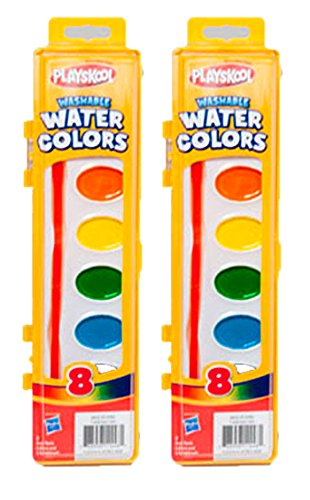 Playskool Washable Water Paint Set of 8 Colors (2 Packs)