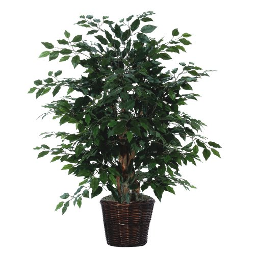 Vickerman AZTXX0140 Ficus Artificial Plant, Dark Green, 4-Feet