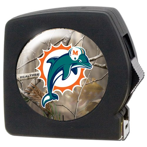 Nfl Miami Dolphins Open Field 25' Tape Measure front-36741