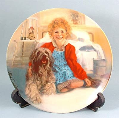 c1982 Bradford Exchange Annie collector plate Annie and Sandy