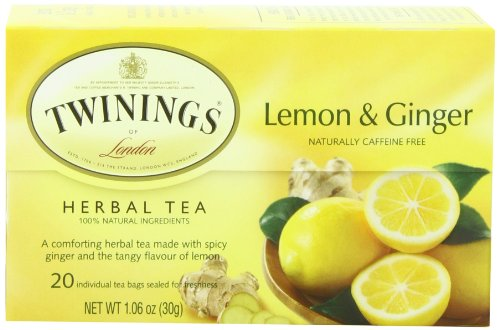 Twinings Revive Herbal Tea, Lemon & Chinese Ginger, 1.06-Ounce Boxes ...