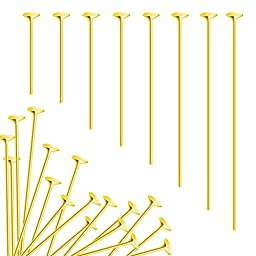 TOAOB Head Pins Gold Plated 18mm 20mm 26mm 30mm 35mm 40mm 45mm 50mm Wholesale for Jewelry Making Pack of 800pcs