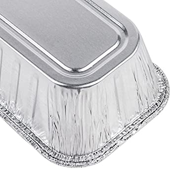 Multi Pack of Disposable Aluminum Foil loaf Bread Pans | 2-Lb Capacity | Superior Heat Conductivity for Evenly Baked Cakes, Breads, Meatloaf and quiche - Standard Size - 8.5 X 4.5 X 2.5 Inch - 30-Pack