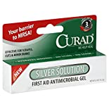 Curad First Aid Antimicrobial Gel, Silver Solution, 0.5 oz (14.2 g)