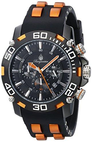 Burgmeister BMT01-622d - Reloj para hombres, correa de plástico color negro