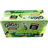 GoGo SqueeZ ORGANIC New On the Go Apple Sauce, VARIETY PACK, 20 Count (20 ct), 3.2 Ounces / Real Organic Fruit & Juice No Artificial Anything 100% Fruit To Go