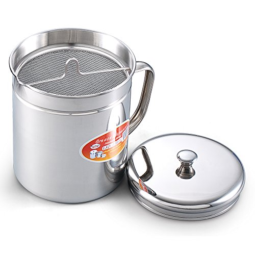 Cook N Home 1-1/2-Quart Stainless Oil Storage (Bacon Grease Strainer compare prices)