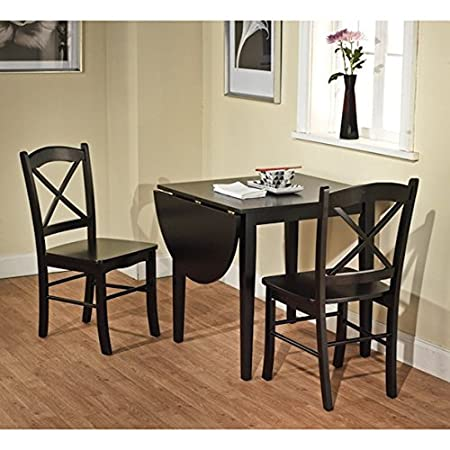 Simple Living Black 3-piece Country Cottage Wood Dining Set