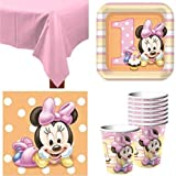Baby Minnie Mouse 1st Birthday Party Pack Supplies for 16 Guests
