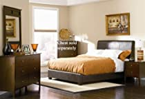 Big Sale 4pc Queen Size Bedroom Set in Brown Bycast Leather