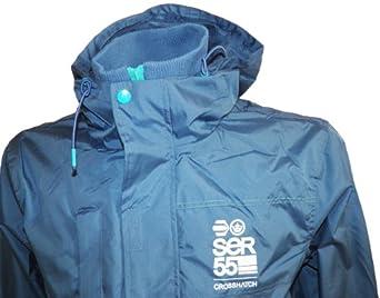 Mens Designer Crosshatch Eckle Autumn Hooded Jacket Windbreaker