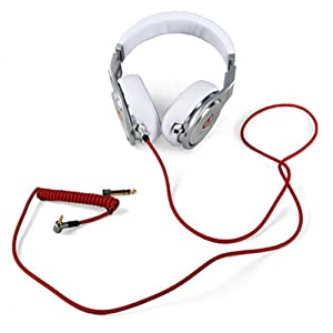 iKNOWTECH® 3.5mm & 6.5mm Replacement Audio Cable Headphone Cord for Monster Beats Pro Detox by Dr Dre (Color: Red)
