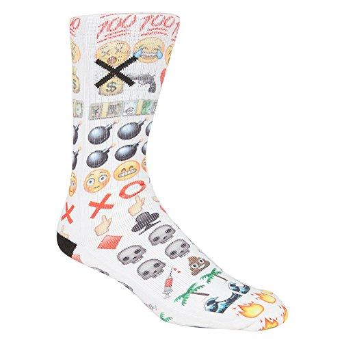 ODD SOX Emoji Mens Tube Socks, Multi