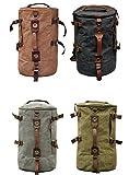Vintage Canvas Big Size Men Travel Bags Luggage Backpacks (color grey)