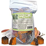 Maine Chaga Tea Chunks, With Natural Vitamin B3, Makes 34-50+ Servings, Not cultivated, 100% Wild Harvested, 4 Ounce