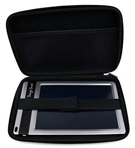 Duragadget Black Zipped Case With Soft Lining For Boogie Board Jot 8.5 Inch Lcd Writing Tablet & Personal Organiser (All Colours)