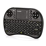 Mini teclado inalámbrico Hausbell H7, de 2.4GHz con Touchpad para PC, Pad, Andriod TV Box, Google TV Box, Xbox360, PS3 y HTPC/IPTV, color negro.