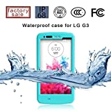 (Surprised) Lg G3 Waterproof Case (Gift for Screen Protect Film and Clean Cloth) Full-body Protective Case Waterproof Shockproof Dustproof Snowproof Case Cover 6.6 Ft Underwater Durable Full Sealed Protection Water Resistant Hard Shell Full-body Protective (3 Months Warranty) Case Cover for Lg G3 (Do Not Fit for Lg G3 Mini) (Lg G3 XLJ Aqua)