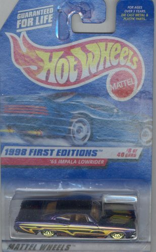 Hot Wheels 1998 FIRST EDITION 635 purple '65 IMPALA LOWRIDER 8 of 40 1:64 Scale