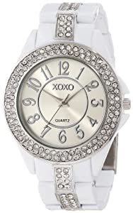 XOXO Women's XO5460 Rhinestone Accent White Analog Bracelet Watch