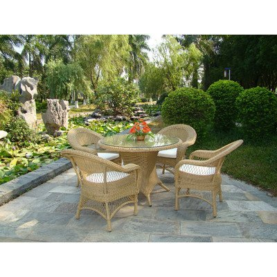 Cozy Bay® Victoria 4-Seater Rattan Furniture Beige Garden Conservatory Dining Set