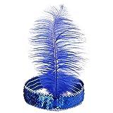 BODYA-Headband-20s-Deluxe-blue-Silver-Flapper-Sequin-Charleston-Dress-Costume-Hairband-Headpiece