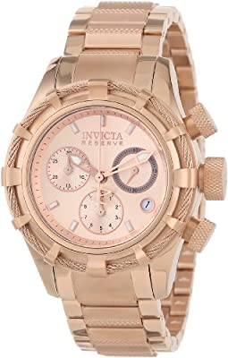 Invicta Women's 12460 Bolt Reserve Analog Swiss Quartz Rose Gold Ion-Plated Stainless Steel Watch