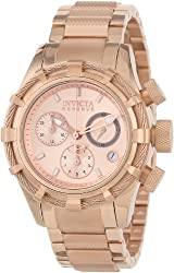 Invicta Women's 12460 Bolt Reserve Chronograph Rose Tone Dial 18k Rose Gold Ion-Plated Stainless Steel Watch