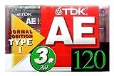 TDK AE 120 3本セット いい音設計 120分 AE-120X3F