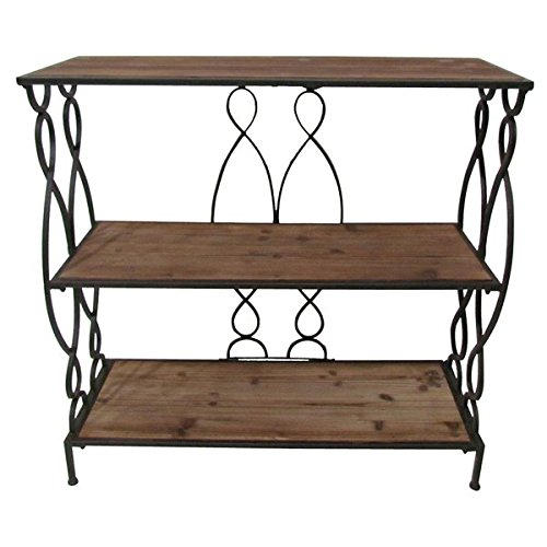 Christopher Knight Home Marseille 3-shelf Rustic Bookcase (Glass Bookcase 3 Shelves compare prices)