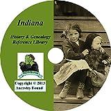 101 old books INDIANA History & Genealogy Family Tree