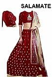 starword fashion women red cotton designer bollywood style lehenga /partywear lehenga/heavy embroidered lehenga