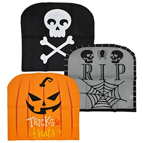 Spooky Halloween Chair Covers, Set of 6