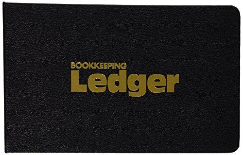 Rediform 63453 1″ 4-Ring Ledger Binder with 100 Mini-Ledger Sheets and A-Z Index, 5″ x 8.5″ (Black)