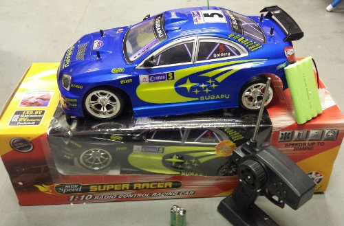 51RvuSIGm7L SUBAPU CAR SUBARU IMPREZA STYLE RADIO REMOTE CONTROL CAR 20MPH SPEED 1/10 BLUE