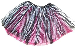 Zebra and Cheetah Tutu - Animal Print Tutus (Hot Pink Zebra)