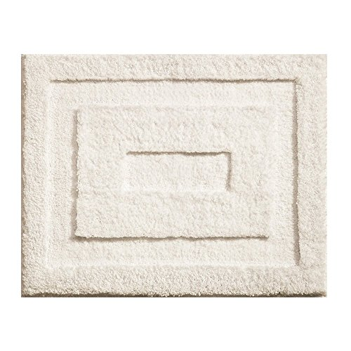 InterDesign Microfiber Spa Bathroom Accent Rug, 21 x 17, Natural