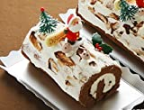 ロリアン洋菓子店 【クリスマスケーキ】ブッシュドノエルミディアムサイズ先行予約 直径約9cm長さ17cm(お届けは12/15日~12/27日の期間)