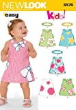 New Look Sewing Pattern 6576 - Babies Dresses Sizes: A (NB, S, M, L)