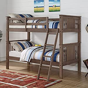 Donco Princeton Twin over Twin Bunk Bed - Slate Gray