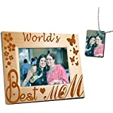 Gift For Her Mother's Day Gift Gift For Maa Personalized Photo Frame(22x17)cm With Beautiful Printed Tag By TIEDRIBBONS