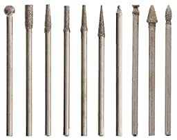 Beadsmith 10-Piece Diamond 150 Grit Tip Drill Bits for Engraving, 2.35mm